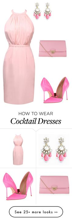 """""""Cocktail pink"""" by rockylol1212 on Polyvore"""