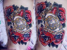 harry potter tattoo   Tumblr   Love the roses