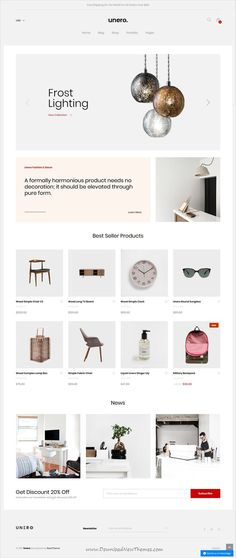 Unero is clean, minimal and modern design responsive #shopify theme for stunning online store #eCommerce website with 16 niche homepage layouts download now #webdesign