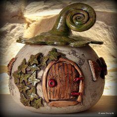 Keramik-Strickhaus / Wichtelhaus für Haus & Garten © Kreativwerkstatt-Fleury www.fleury.de