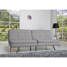 Memphis Ash Double Cushion Futon Sofa Bed | Overstock™ Shopping - Great Deals on Sofas & Loveseats $373