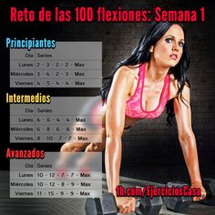 #Reto 100 flexiones: 1 semana