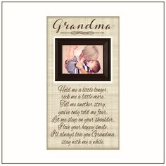 Stay With Me Grandma Picture Frame Christmas Gift  by MemoryScapes