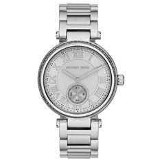 Michael Kors Women's MK5866 Skylar Silvertone Watch | Overstock.com Shopping - The Best Deals on Michael Kors Women's Watches