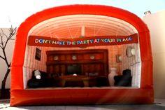 Streetplanneur >> Mc Donalds inflatable lounge