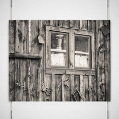 Rustic Photography, Fine Art Cabin Print, Telluride Colorado Wall Art, Log Cabin Photo, Antiques and Tools, Colorado Cabin, Black and White