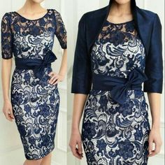 Navy Blue Satin Lace Mother Of The Bride Dresses With Bow Free Jacket Plus Size in Clothing, Shoes & Accessories, Wedding & Formal Occasion, Mother of the Bride Mother Of Bride Outfits, Mother Of Groom Dresses, Bride Groom Dress, Mothers Dresses, Mother Of The Bride Plus Size, Mother Of The Bride Gown, Mob Dresses, Formal Dresses, Bride Dresses
