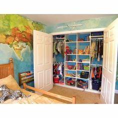 Boy's Closet Design, Pictures, Remodel, Decor and Ideas - page 3 Shared Closet, Boys Closet, Closet Bedroom, Kids Bedroom, Kids Rooms, Closet Space, Childrens Bedroom, Master Bedroom, Closet Storage