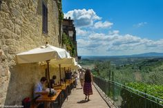 San Gimignano #ristorante #bellavista #Tuscany #viafrancigena
