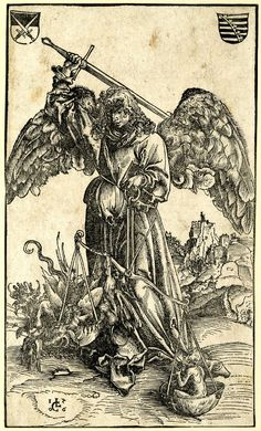 St. Michael weighing a human soul and a devil, Lucas Cranach the Elder, 1506