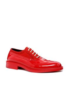 Vivienne Westwood Brogues in High Shine Red