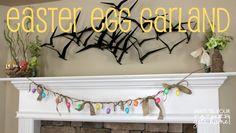 Easter Egg Garland @ Wait Til Your Father Gets Home #Easter #Garland #Eggs