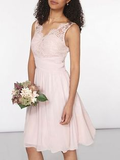 Dorothy Perkins Showcase blush josie prom dress | Debenhams