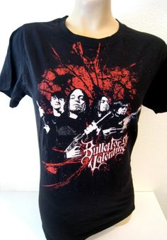 Bullet For My Valentine Tee Hot Topic Fitted Black Red Band Gun Women's XL NEW