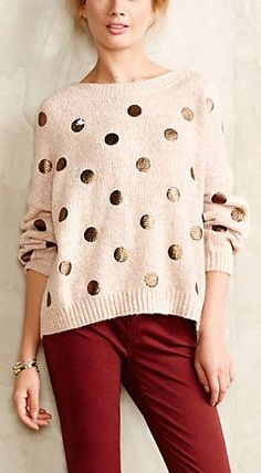 Spotted sweater http://rstyle.me/n/sv8e7n2bn