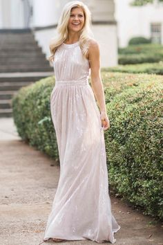 By The Light Of The Moon Nude Maxi Dress at reddressboutique.com