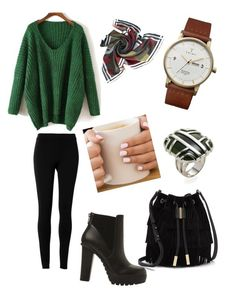 """Black & Green"" by miazinhaa on Polyvore featuring beauty, Max Studio, Vince Camuto, Steve Madden, Triwa and Di Modolo"