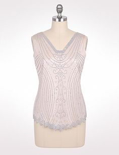 Plus Size Beaded Top - this is really pretty!
