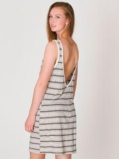 American Apparel - Stripe Scoop Back Dress