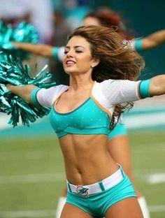 Miami Dolphins Cheerleader Miami Cheerleaders, Dolphins Cheerleaders, Hottest Nfl Cheerleaders, Sport Model, College Cheerleading, Cheerleader Girls, Cheerleader Images, Sixpack Workout, Professional Cheerleaders