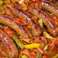 Italian Sausage Peppers and Onions - Sparkles of Yum Italian Sausage Recipes, Sweet Italian Sausage, Pork Loin, Pork Roast, Sausage Peppers And Onions, Stuffed Peppers, Shrimp And Sausage Pasta, Cajun Shrimp, Cajun Gumbo