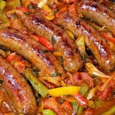 Italian Sausage Peppers and Onions - Sparkles of Yum Pork Loin, Pork Roast, Sausage Peppers And Onions, Stuffed Peppers, Shrimp And Sausage Pasta, Cajun Shrimp, Cajun Gumbo, Cream Corn Casserole, Cowboy Casserole