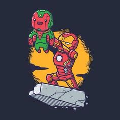 Iron Man and Vision Lion King Style