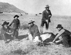 historical cowboy pictures | cowboys at cox ranch description w w cox and cowboys branding ...