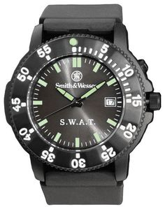 Smith and Wesson Police SWAT Watch Back Glow Rubber Strap #SmithWesson #PoliceGear #LawEnforcement