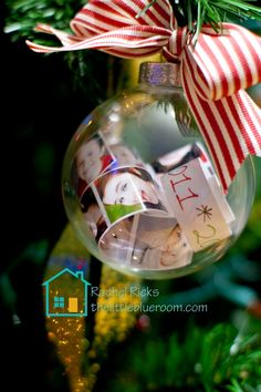Christmas in August: Do a back-to-school time capsule now in a glass ornament with small strips of photos from the school year; save for later! #CulturalCareAuPair #BacktoSchool
