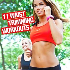 11 Waist Trimming Workouts--you'll be able to watch your body transform and it'll only take a few minutes a day! #weightloss #waisttrimming #workouts