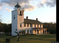 Horton Point Lighthouse, now a museum maintained by the Southold Historical Society, in Southold, NY on the North Fork of Long Island.