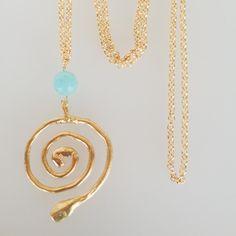 Mod. serpiente con cadena y ágata – Goc´s Nine