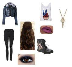 """""""~ New addition ~"""" by alyssaxoxo1213 ❤ liked on Polyvore featuring Topshop, LE3NO, LORAC and The Giving Keys"""