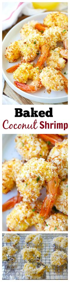 Baked Coconut Shrimp – EASIEST and BEST coconut shrimp with no deep-frying, no oil, no mess!! Bake in oven for 20 mins, delicious, healthy & budget-friendly!!