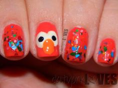 datyorkLOVES: Easy Elmo Nails