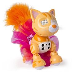 Zoomer Meowzies Tabitha Interactive Kitten - Tabitha is super stylish! You'll be smitten with this orange tabby kitten! The more you play, the happier she'll be!