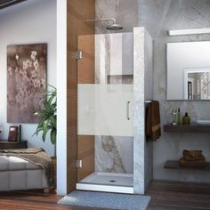 DreamLine Unidoor 28 in. x 72 in. Frameless Hinged Shower Door in Chrome-SHDR-20287210F-HFR-01 - The Home Depot