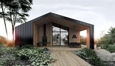 Our dream house // deco maison / architecture / home decor // Black And White House With Moments Of Kid-Friendly Quirky Decor Design Exterior, Modern Exterior, Casas Containers, Shed Homes, Forest House, Modern Barn, House In The Woods, Black House, Modern Architecture