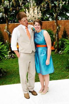 Best sibling shot ever! #groom #siblings #goofy #photography #wedding #orange #turquoise #rustic #county #fall #HughesMarseeWedding13