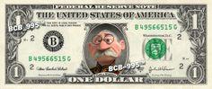Duke of Weselton on REAL Dollar Bill - Frozen