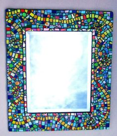 Rainbow mosaic mirror from TheMosaicGardens.com.
