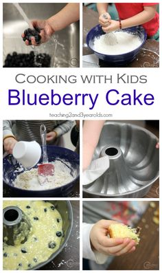 Recipe for Blueberry Cake that Kids Can Help Make. Easy and delicious!