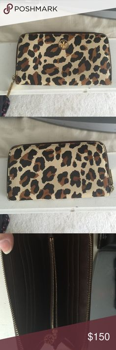 Tory burch wallet Long style. Leopard print. Great condition. Used only a few times then stored. Tory Burch Accessories