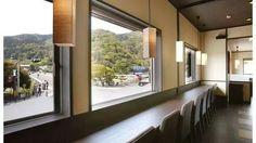 京都 嵐山 渡月橋を見渡せる カフェ おぶう