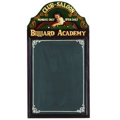 Premiere Game Tables  - PUB SIGN-BILLIARD ACADEMY, $68.00 (http://www.premieregametables.com/products/PUB-SIGN%2dBILLIARD-ACADEMY.html)