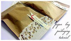 Sepia Smiles: paper bag packaging tutorial