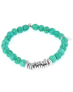 Men\'s+Round+Turquoise+Beaded+Bracelet+by+Tateossian+at+Neiman+Marcus.