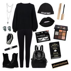 Depression by nicholecall1999 on Polyvore featuring polyvore fashion style Helmut Lang Warehouse Frye Ruifier Chiara Ferragni Huda Beauty clothing
