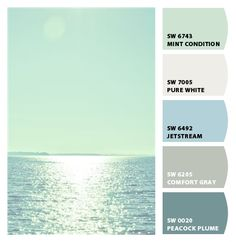 Water & Sky - Paint colors from Chip It! by Sherwin-Williams